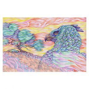 Decorative Floor Covering Mats | Gerry Segismundo - Raptors Vigilance | bird of prey tree forest