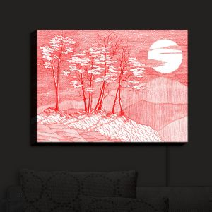 Nightlight Sconce Canvas Light | Gerry Segismundo - Red Moon