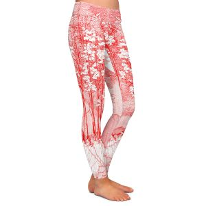 Casual Comfortable Leggings | Gerry Segismundo - Red Moon | landscape geometric abstract surreal