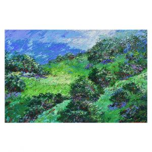 Decorative Floor Covering Mats | Gerry Segismundo - Rolling Hills | landscape abstract surreal painting impressionism