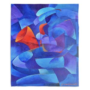 Decorative Fleece Throw Blankets | Gerry Segismundo - Sax on Wall | instrument music abstract geometric