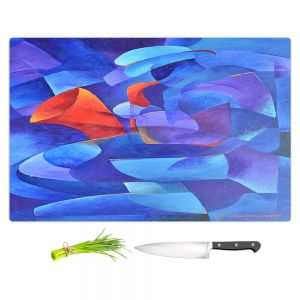 Artistic Kitchen Bar Cutting Boards | Gerry Segismundo - Sax on Wall | instrument music abstract geometric