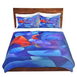 Artistic Duvet Covers and Shams Bedding | Gerry Segismundo - Sax on Wall | instrument music abstract geometric