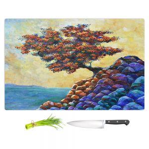 Artistic Kitchen Bar Cutting Boards | Gerry Segismundo - Solitude 2 | landscape coast mountains tree