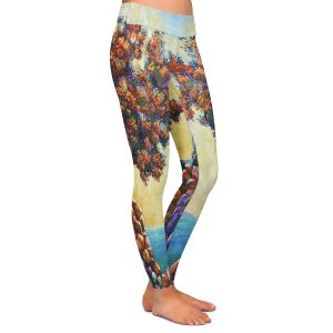 Casual Comfortable Leggings | Gerry Segismundo - Solitude 2 | landscape coast mountains tree
