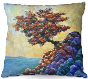 Throw Pillows Decorative Artistic | Gerry Segismundo - Solitude 2 | landscape coast mountains tree