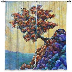 Decorative Window Treatments | Gerry Segismundo - Solitude 2 | landscape coast mountains tree