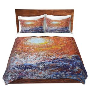 Artistic Duvet Covers and Shams Bedding | Gerry Segismundo - Splash | ocean landscape sky sun wave