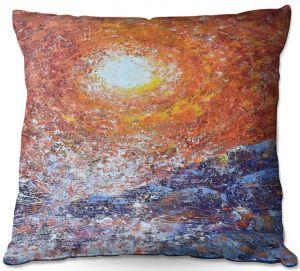 Decorative Outdoor Patio Pillow Cushion | Gerry Segismundo - Splash | ocean landscape sky sun wave