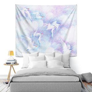 Artistic Wall Tapestry   Gerry Segismundo - Swift   bird seagull sky flight clouds