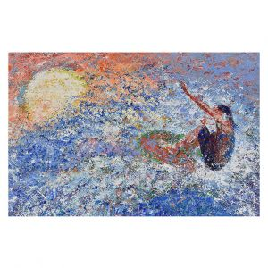 Decorative Floor Covering Mats | Gerry Segismundo - Touch the Sun | surfer surfing abstract impressionism
