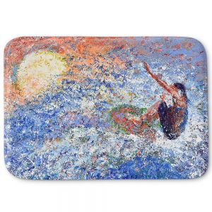 Decorative Bathroom Mats | Gerry Segismundo - Touch the Sun | surfer surfing abstract impressionism