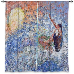 Decorative Window Treatments | Gerry Segismundo - Touch the Sun | surfer surfing abstract impressionism