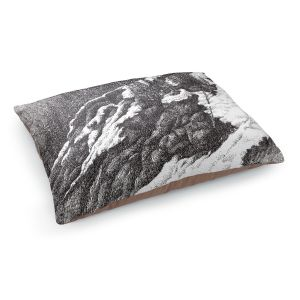 Decorative Dog Pet Beds | Gerry Segismundo - Wyoming 1 | landscape crosshatch snow forest mountain
