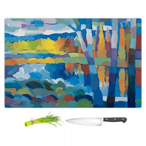 Artistic Kitchen Bar Cutting Boards   Hooshang Khorasani - Beside Still Waters   landscape forest abstract painterly