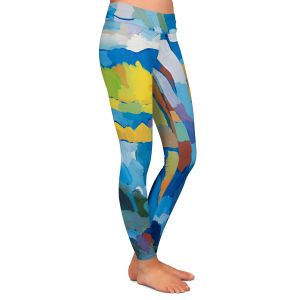 Casual Comfortable Leggings | Hooshang Khorasani - Beside Still Waters | landscape forest abstract painterly