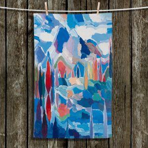 Unique Bathroom Towels | Hooshang Khorasani - Blue View | landscape forest abstract painterly