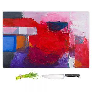 Artistic Kitchen Bar Cutting Boards | Hooshang Khorasani - Boomerang | abstract shapes geometry brush strokes