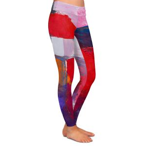 Casual Comfortable Leggings | Hooshang Khorasani - Boomerang | abstract shapes geometry brush strokes