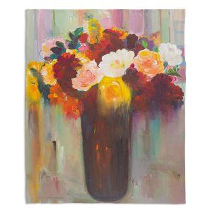 Decorative Fleece Throw Blankets   Hooshang Khorasani - Bouquet of Flowers