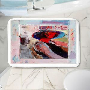 Decorative Bathroom Mats | Hooshang Khorasani - Cafe View | Abstract Portrait People