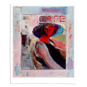 Decorative Fleece Throw Blankets | Hooshang Khorasani - Cafe View | Abstract Portrait People