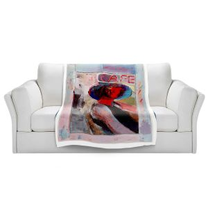 Artistic Sherpa Pile Blankets | Hooshang Khorasani - Cafe View | Abstract Portrait People