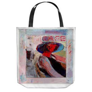 Unique Shoulder Bag Tote Bags | Hooshang Khorasani - Cafe View | Abstract Portrait People