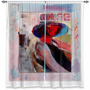 Decorative Window Treatments | Hooshang Khorasani - Cafe View | Abstract Portrait People