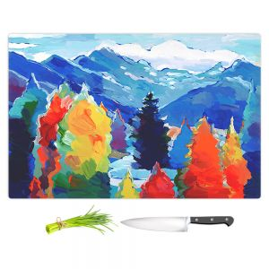 Artistic Kitchen Bar Cutting Boards | Hooshang Khorasani - Cascade of Colors