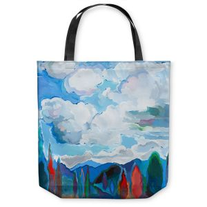 Unique Shoulder Bag Tote Bags | Hooshang Khorasani Color and Clouds