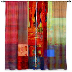 Decorative Window Treatments | Hooshang Khorasani Color Storm Abstraction III