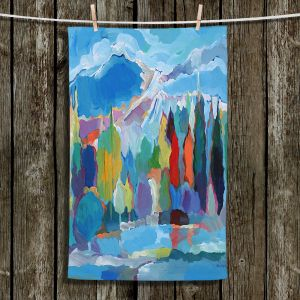 Unique Hanging Tea Towels | Hooshang Khorasani - Colorado Collection | Trees Mountains Nature Forest