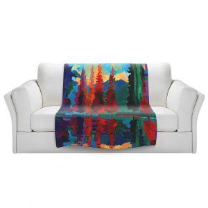 Artistic Sherpa Pile Blankets   Hooshang Khorasani Colorado Sunset