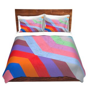 Artistic Duvet Covers and Shams Bedding | Hooshang Khorasani - Di Angle | lines pattern geometric