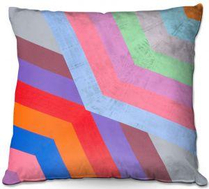 Decorative Outdoor Patio Pillow Cushion | Hooshang Khorasani - Di Angle | lines pattern geometric