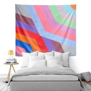 Artistic Wall Tapestry | Hooshang Khorasani - Di Angle | lines pattern geometric