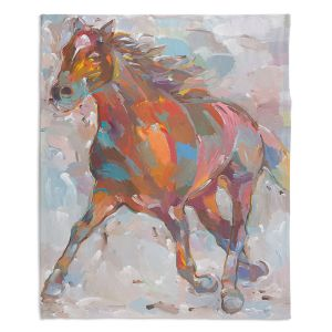 Decorative Fleece Throw Blankets | Hooshang Khorasani - Equine Advance Horse