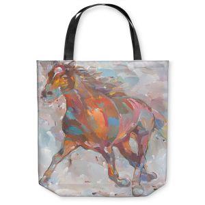 Unique Shoulder Bag Tote Bags | Hooshang Khorasani Equine Advance Horse