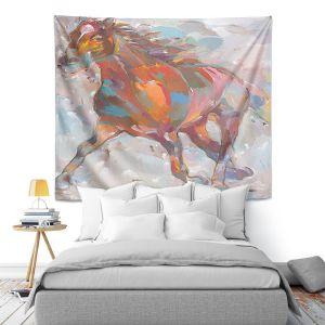 Artistic Wall Tapestry | Hooshang Khorasani Equine Advance Horse