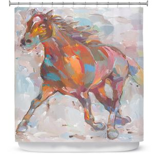 Premium Shower Curtains | Hooshang Khorasani Equine Advance Horse