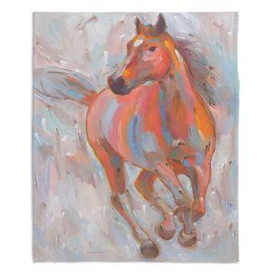 Decorative Fleece Throw Blankets | Hooshang Khorasani - Equine Elegance I Horse