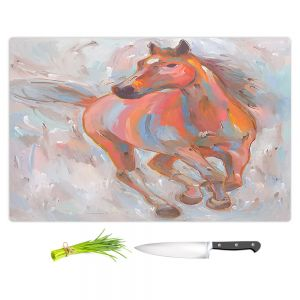 Artistic Kitchen Bar Cutting Boards | Hooshang Khorasani - Equine Elegance I Horse