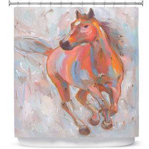 Premium Shower Curtains | Hooshang Khorasani Equine Elegance I Horse