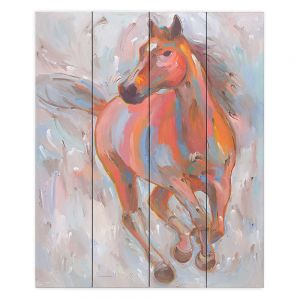 Decorative Wood Plank Wall Art   Hooshang Khorasani Equine Elegance I Horse