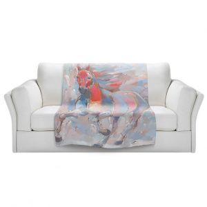 Artistic Sherpa Pile Blankets | Hooshang Khorasani - Equine Elegance II Horse
