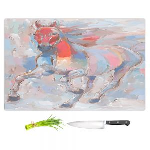 Artistic Kitchen Bar Cutting Boards   Hooshang Khorasani - Equine Elegance II Horses