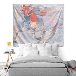Artistic Wall Tapestry | Hooshang Khorasani - Equine Elegance II Horse