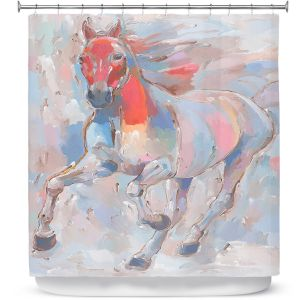 Premium Shower Curtains | Hooshang Khorasani - Equine Elegance II Horse