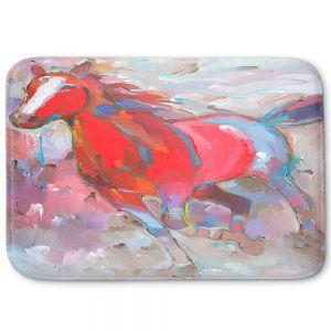 Decorative Bathroom Mats | Hooshang Khorasani - Equine Exuberance IV Horses